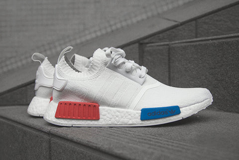 c31b180f9 Adidas NMD R1 Primeknit OG White Global Release - The Sole Library