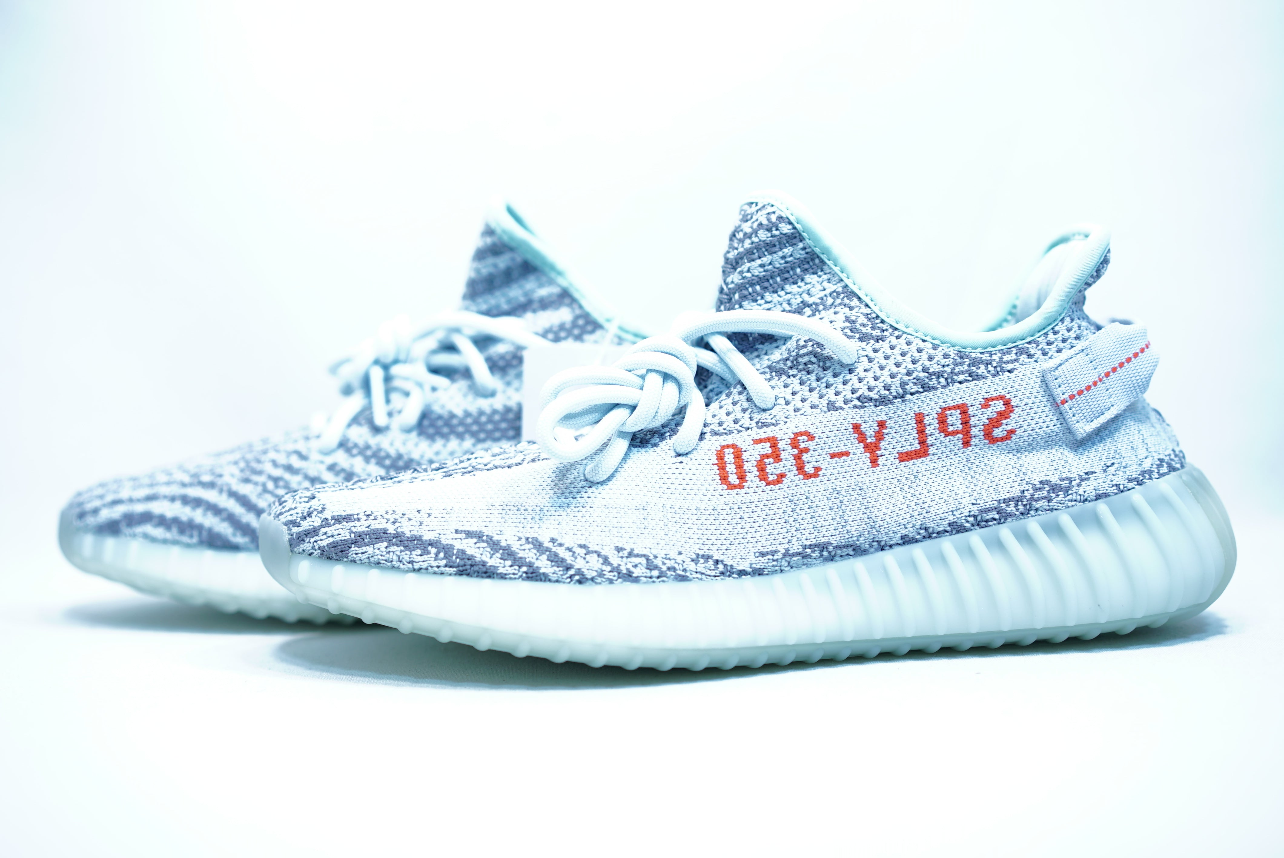 741b8e24a64 Adidas Yeezy Boost 350 V2  Blue Tint  - The Sole Library