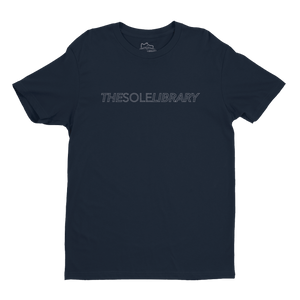 The Sole Library Dash Tee - Navy