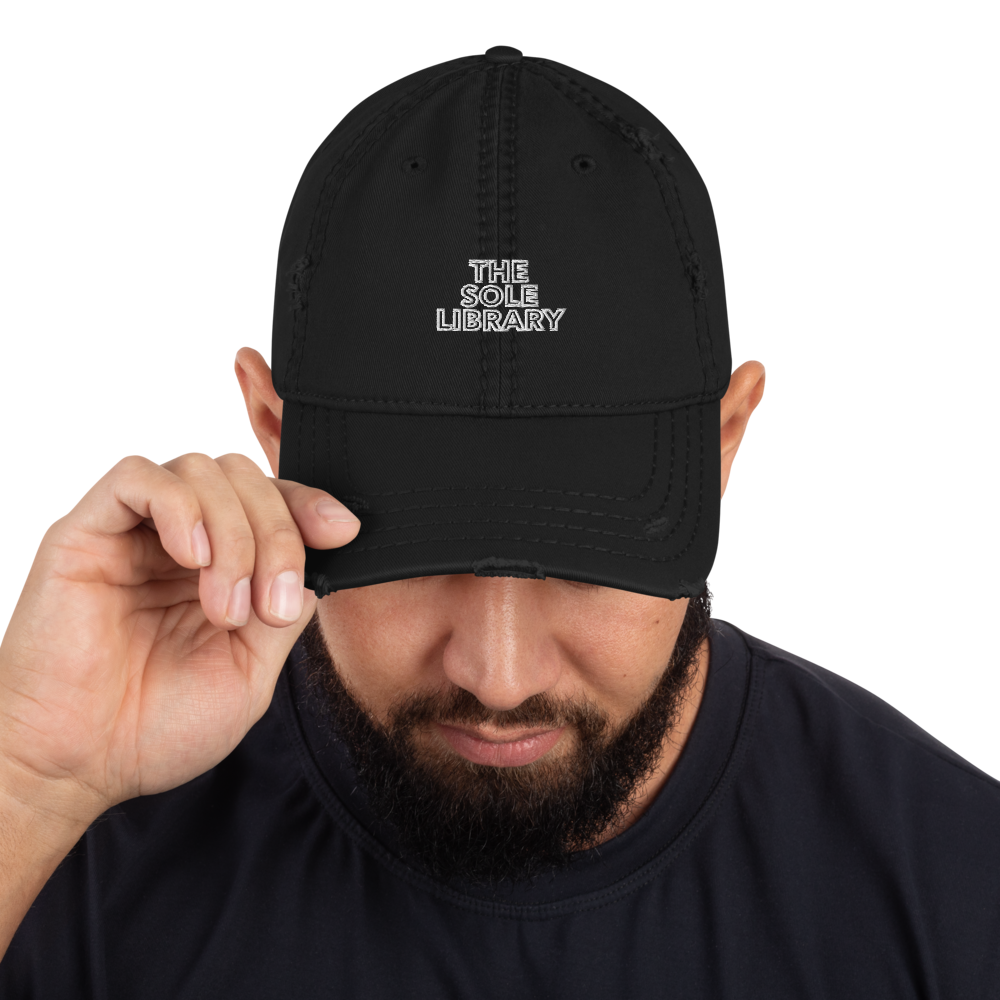 The Sole Library Stitched Distressed Dad Hat