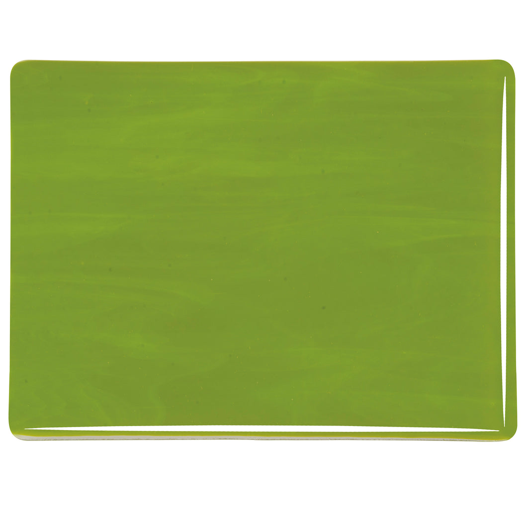 Large Sheet Glass - Avocado Green - Opalescent