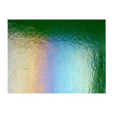Load image into Gallery viewer, Sheet Glass - Aventurine Green Iridescent Rainbow - Transparent