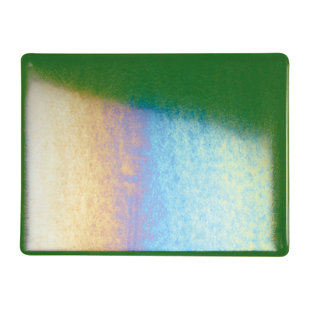 Sheet Glass - Aventurine Green Iridescent Rainbow - Transparent