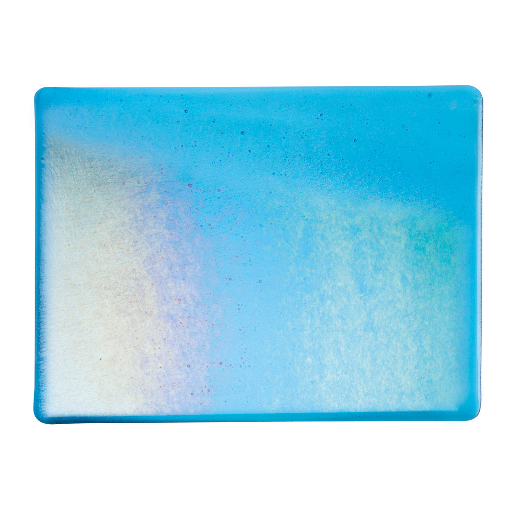 Sheet Glass - Turquoise Blue Iridescent Rainbow - Transparent