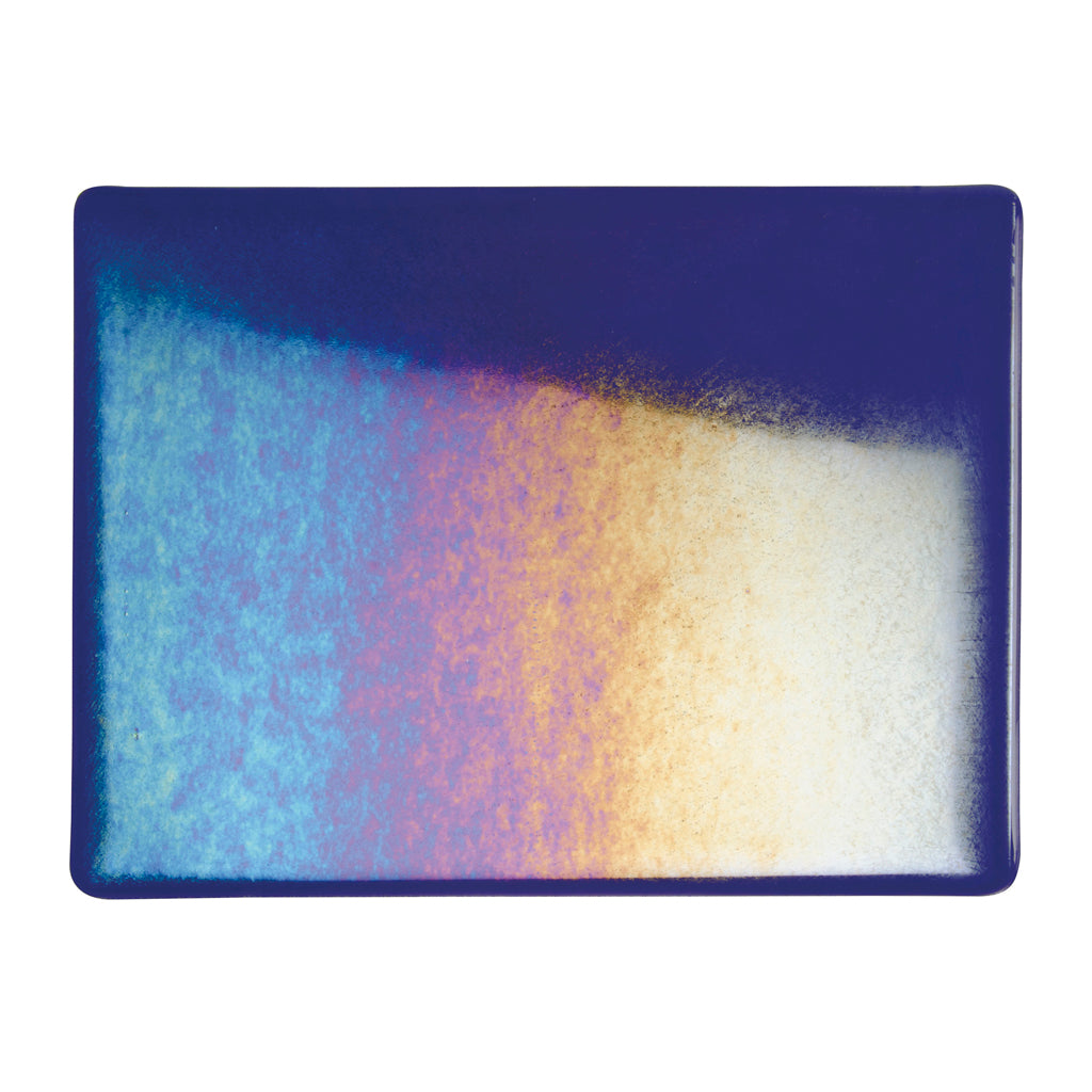 Sheet Glass - Deep Royal Purple Iridescent Rainbow - Transparent
