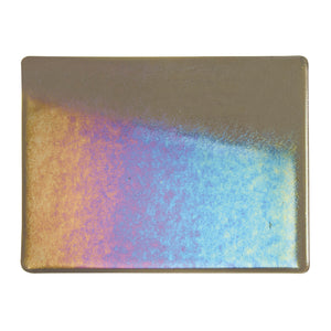 Large Sheet Glass - Charcoal Gray Iridescent Rainbow - Transparent