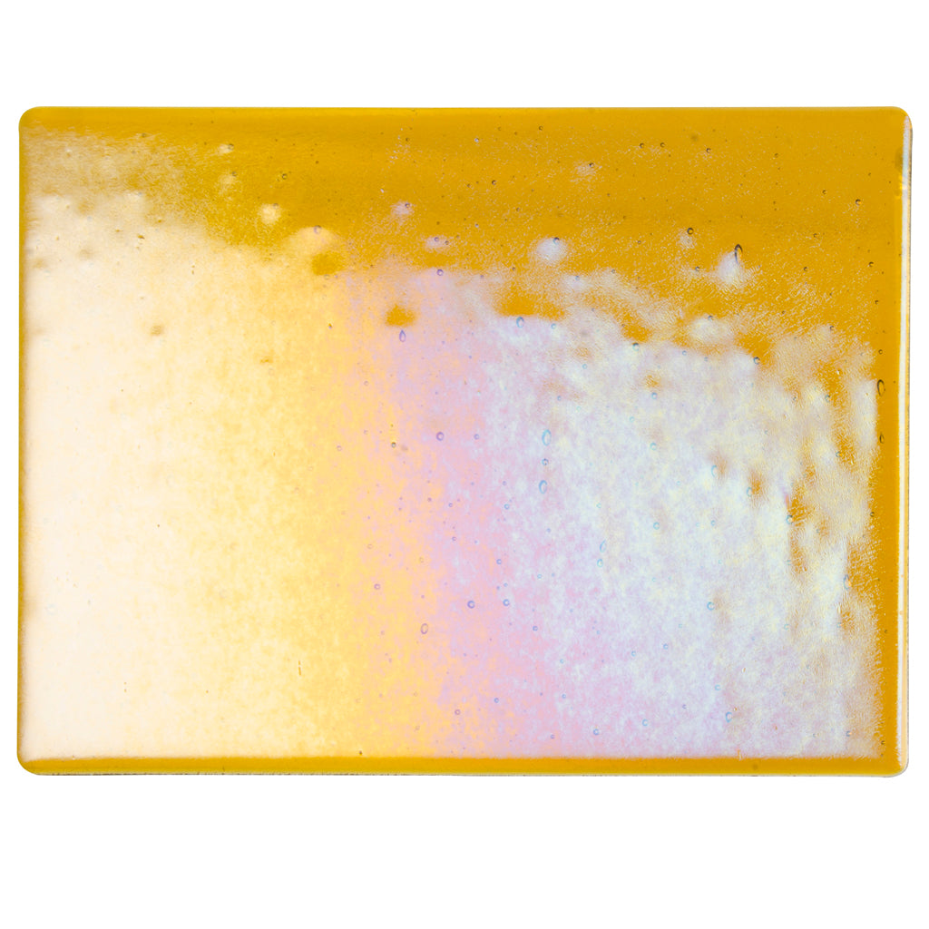Large Sheet Glass - Dark Amber Iridescent Rainbow - Transparent