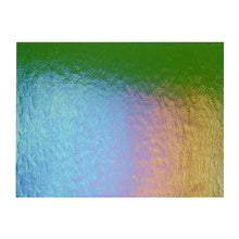 Load image into Gallery viewer, Sheet Glass - Olive Green Iridescent Rainbow - Transparent