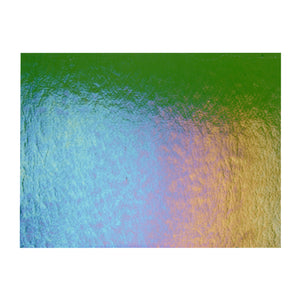 Sheet Glass - Olive Green Iridescent Rainbow - Transparent