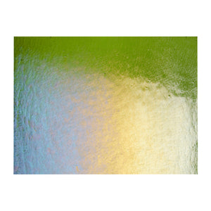 Large Sheet Glass - Fern Green Iridescent Rainbow* - Transparent
