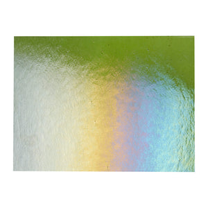 Large Sheet Glass - Pine Green Iridescent Rainbow* - Transparent