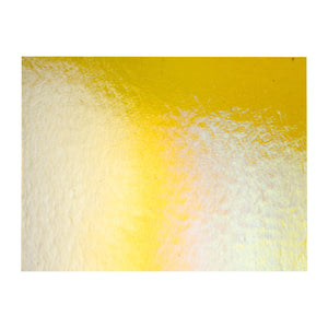 Large Sheet Glass - Marigold Yellow Iridescent Rainbow* - Transparent