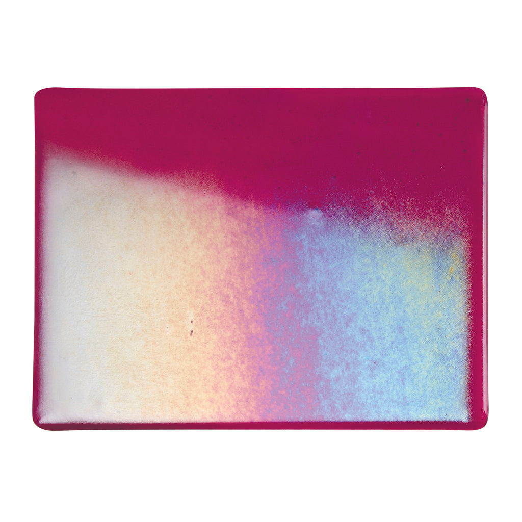 Sheet Glass - Garnet Red Iridescent Rainbow* - Transparent