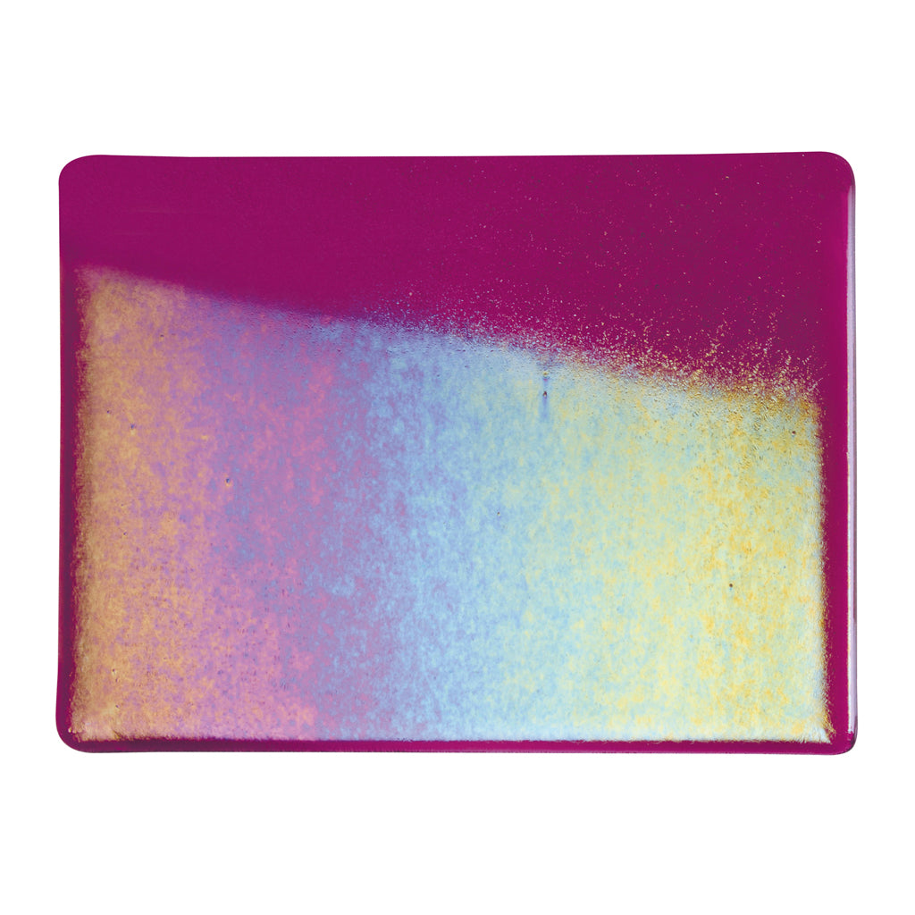 Sheet Glass - Fuchsia Iridescent Rainbow* - Transparent