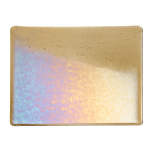 Large Sheet Glass - Light Bronze Iridescent Rainbow - Transparent