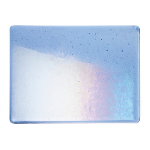 Large Sheet Glass - Light Sky Blue Iridescent Rainbow - Transparent