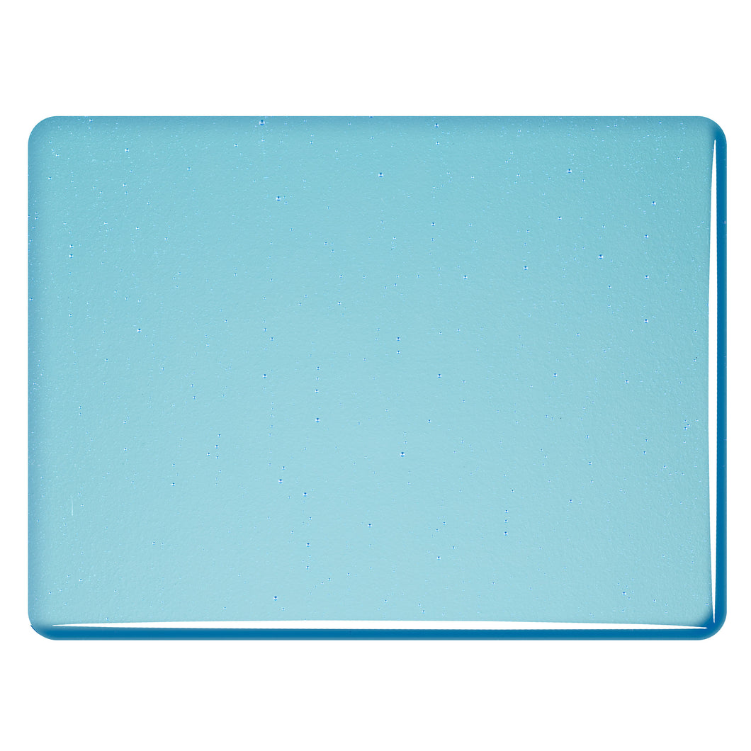 Large Sheet Glass - Light Turquoise Blue - Transparent