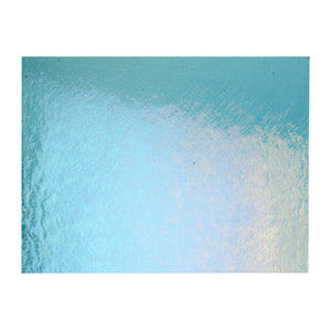 Large Sheet Glass - Light Turquoise Blue Iridescent Rainbow - Transparent