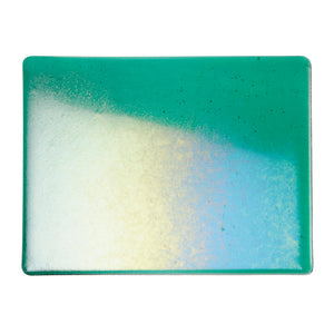Large Sheet Glass - Emerald Green Iridescent Rainbow - Transparent