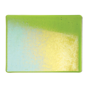 Large Sheet Glass - Spring Green Iridescent Rainbow - Transparent