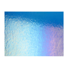 Load image into Gallery viewer, Large Sheet Glass - True Blue Iridescent Rainbow - Transparent