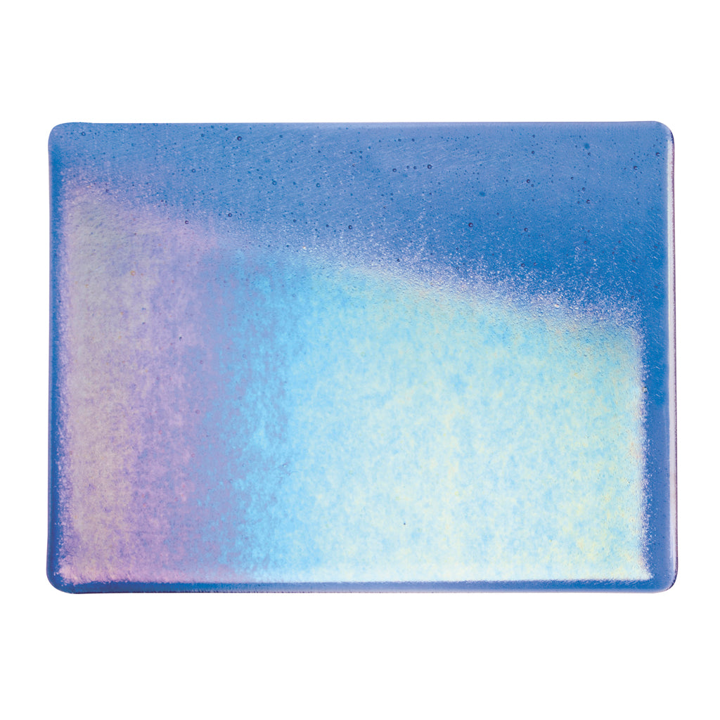 Large Sheet Glass - True Blue Iridescent Rainbow - Transparent