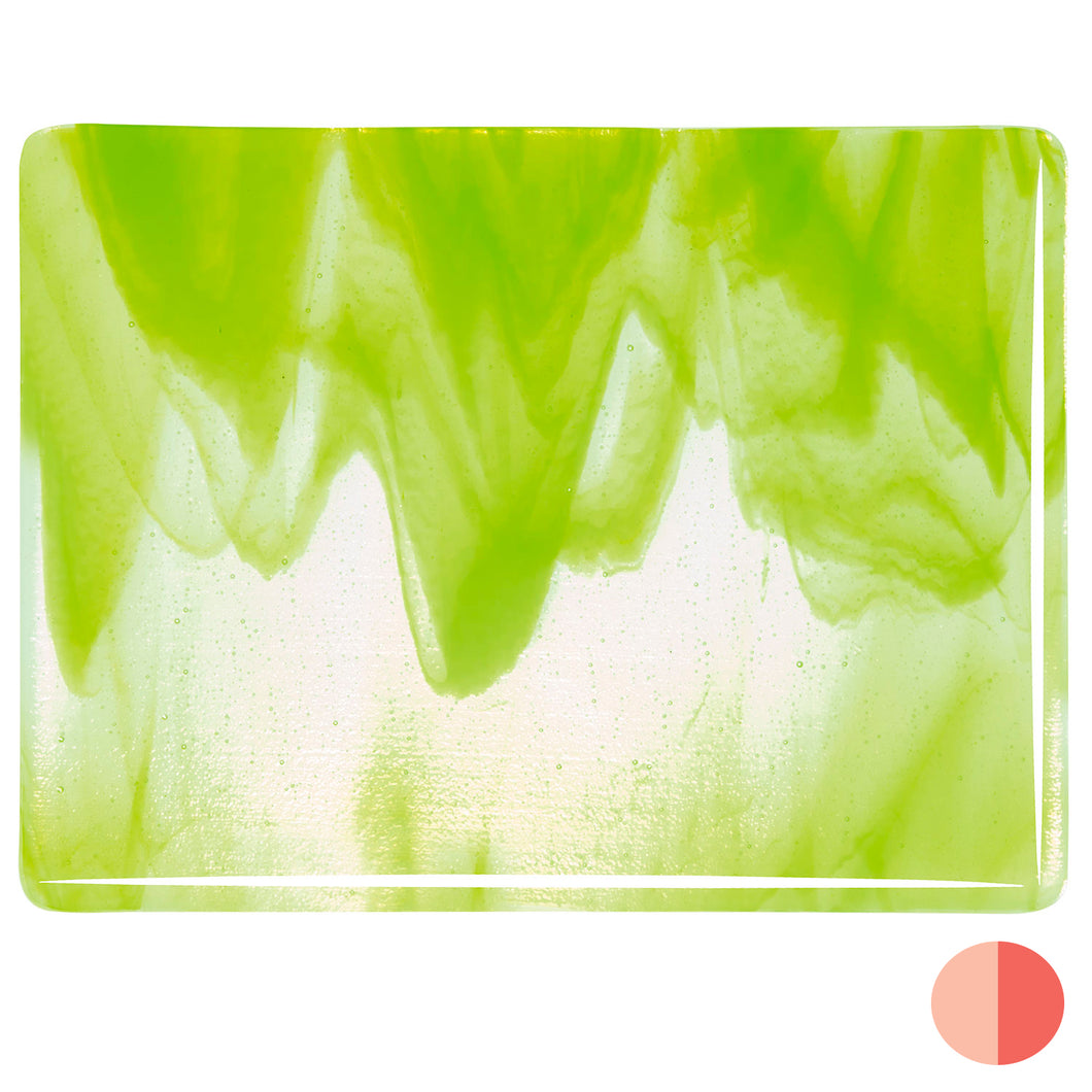 Large Sheet Glass - Clear, Spring Green* - Streaky