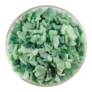 Frit - Mint Green Opalescent, Aventurine Green Transparent 2-Color Mix