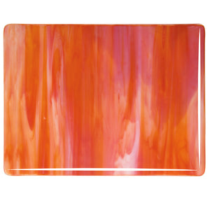 Sheet Glass - Red Opal, White - Streaky