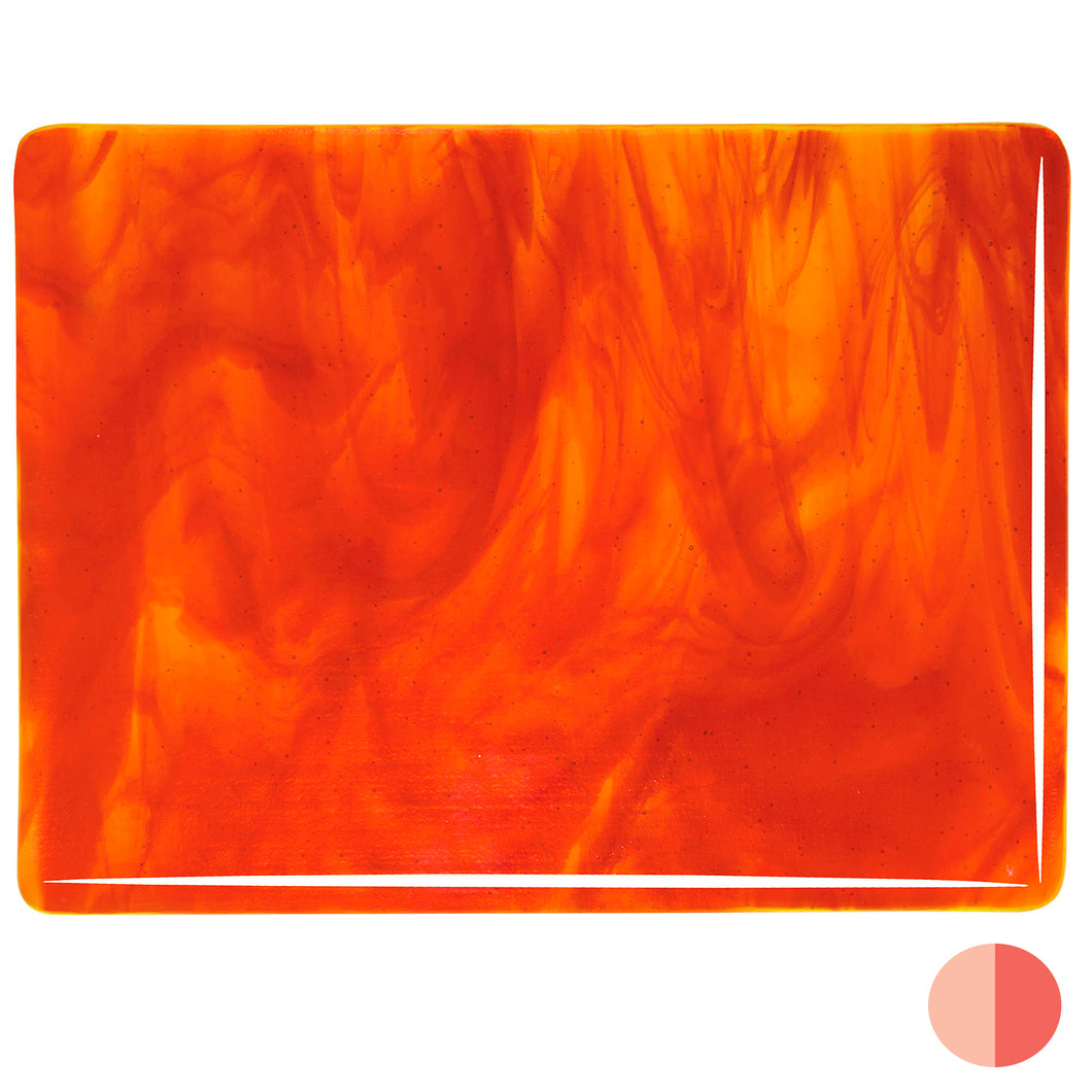 Large Sheet Glass - Yellow, Red* - Streaky
