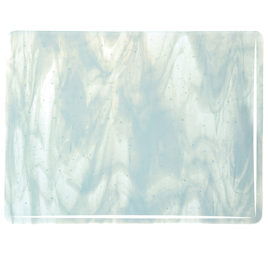 Large Sheet Glass - Aqua Blue Tint, White - Streaky