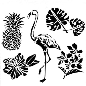 Stencil - Tropical Elements