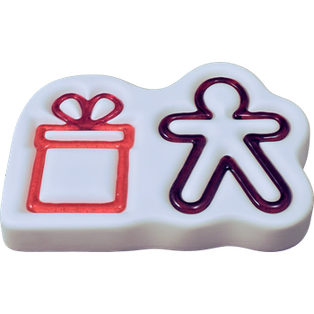 Colour de Verre- Gingerbread Man and Gift Casting Mold