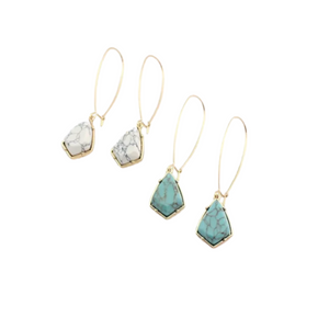 Bermuda Collection - Turquoise drop earrings