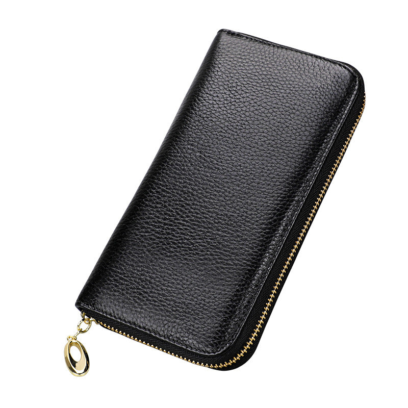Capri Black Leather Wallet
