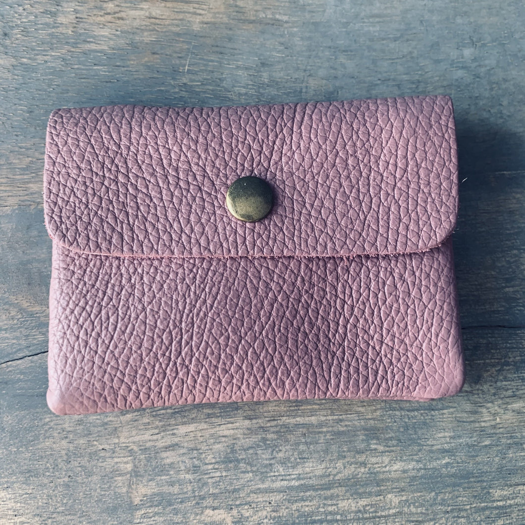 Naxos Antique Pink Leather Coin Purse