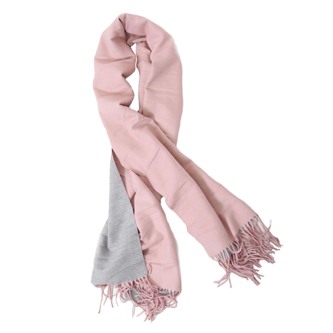 Beauabea - Pink/Grey Scarf
