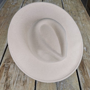 Beauabea Cream Fedora Hat