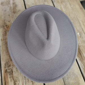 Beauabea Grey Fedora Hat