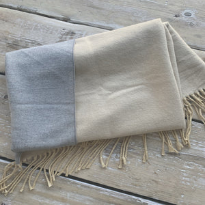 Beauabea - Cream/Ombre Scarf