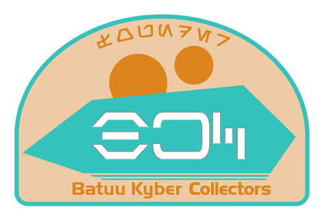 "Batuu Kyber Collectors Founders Edition Patch 3.75"" wide"