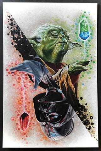 Crystals Of Answers Yoda/Vader Print