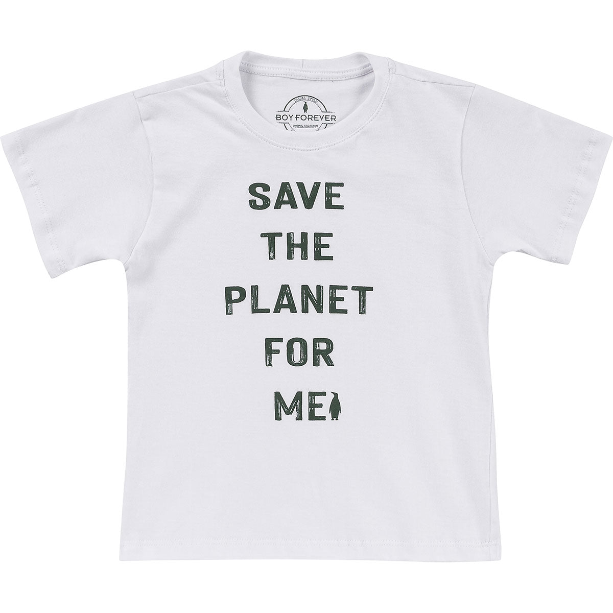 Camiseta silk Save the  planet for me