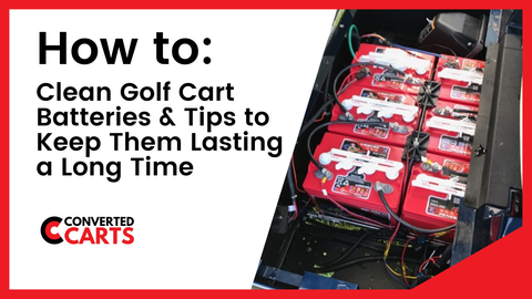 How to clean golf cart batteries