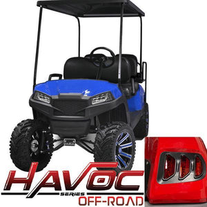 Blue Havoc Body Kit w/ Off-Road Fascia & Light Kit for 2007-2016 Yamaha G29/Drive