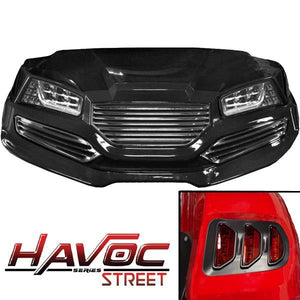 Black Havoc Body Kit w/ Street Style Fascia & Light Kit for 2007-2016 Yamaha G29/Drive