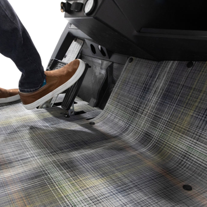 Chilewich® Premium E-Z-GO TXT Gray Plaid Floor Mat (Years 2001.5-Up)