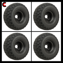 Load image into Gallery viewer, 10-Inch Black Steel Wheels on GTW Recon All-Terrain Tires (Set of 4)