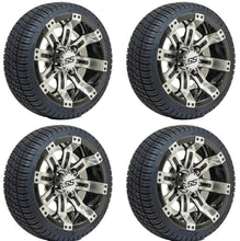Load image into Gallery viewer, 10-Inch GTW Tempest Wheels Mounted on GTW Street Tires (Set of 4)