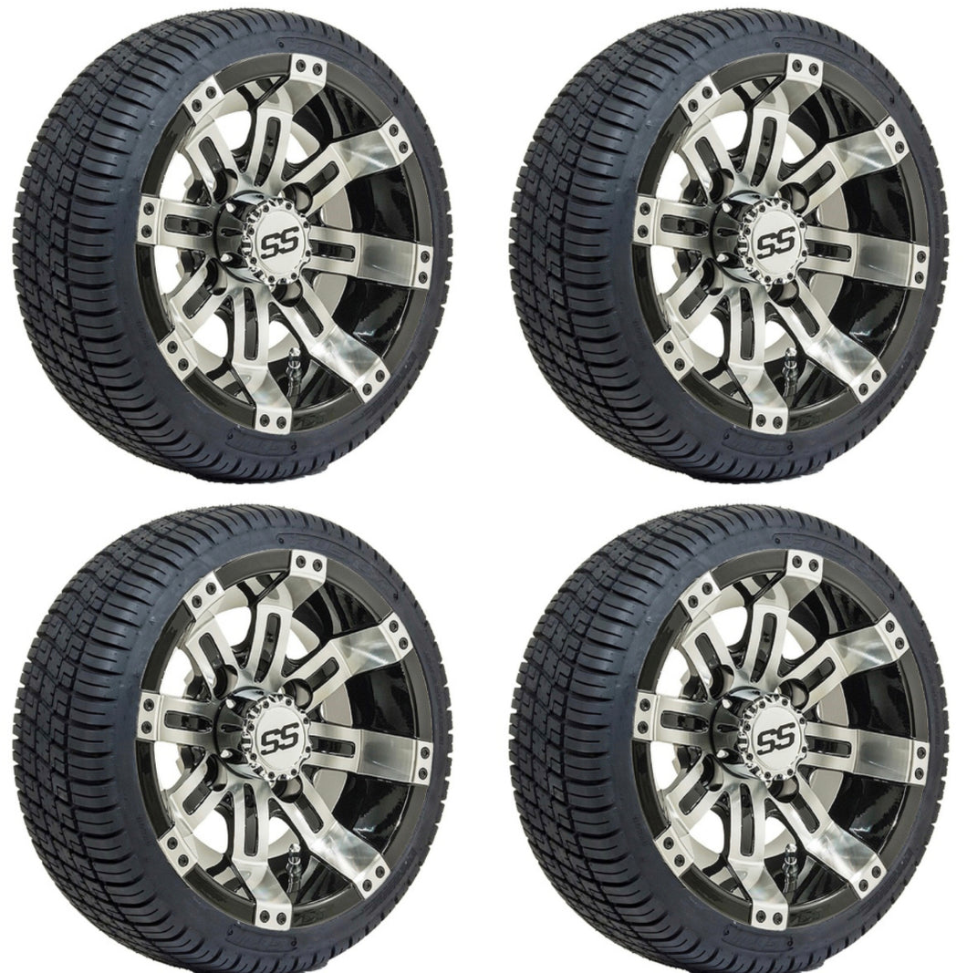 10-Inch GTW Tempest Wheels Mounted on GTW Street Tires (Set of 4)